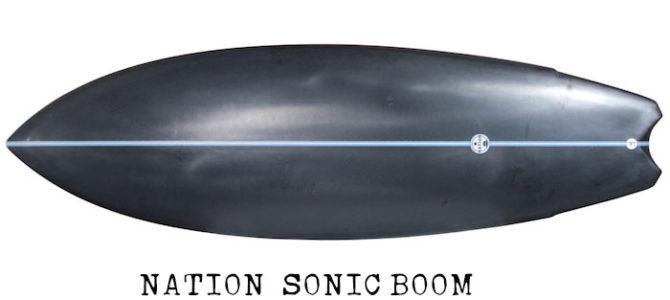 【水曜日のオシイタ】黒き流星あらわる!NATION『SONIC BOOM』5'7″ x 19-15/16″ x 2-3/8″ 千葉在庫アウトレットボード(即納可能)