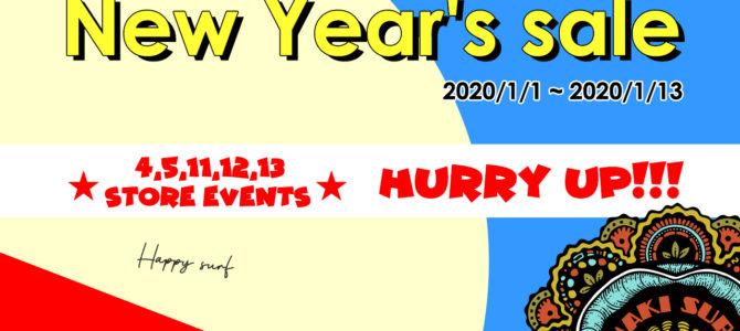 【NAKISURF2020新春初売】明日1/1(水)〜STARTです!!!