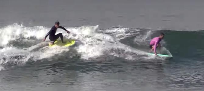 【CATCH SURF必見動画】KALANI & Johnnyがフィンレスボードで華麗にサーフ♪
