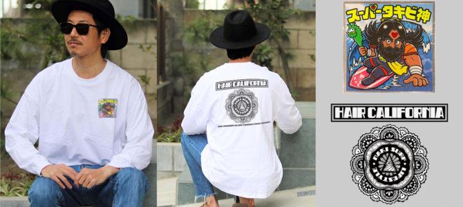 <72時間限定販売> ヘアカリ&NAKISURFコラボ 『スーパータキビ神ロングスリーブ・シャツ』
