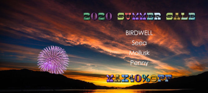 本日、7/23(木)より《2020 SUMMER SALE》スタート♪