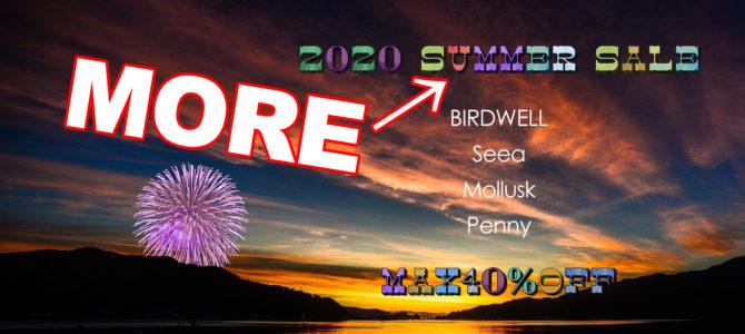 """8月23日(日)【""""2020SUMMER"""" MORE  SALE開始★】"""