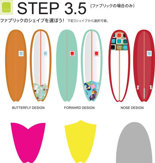 STEP3.5 ファブリックのシェイプを選ぼう