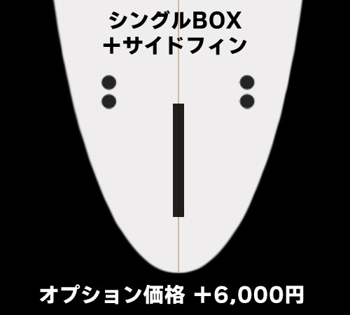 シングルBOX+サイドフィン(+6,000円)