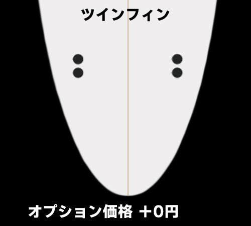 ツインフィン(+0円)