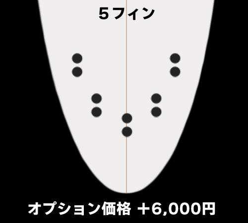 5フィン(+6,000円)