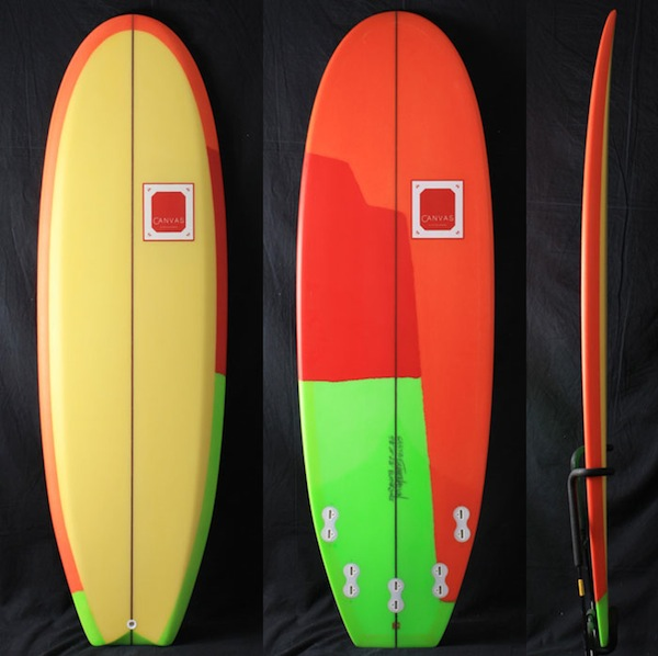 【CANVAS】THE BUTTER ZONE, Polyester, 5'6″ x 20″ x 2-1/2″, FCS 5fin:Fさま