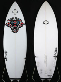 【Surf Prescriptions(DOC)】ND9 5'6″x19-3/4″x2-7/16″ ポリエスター FCS 5FINS