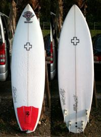 【Surf Prescriptions(DOC)】NEW-ND1-E 6'0″ x 19-1/2″ x 2-1/2″ ポリエスター, FCS 5 フィン