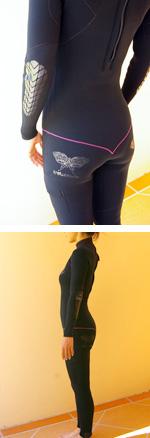 Z1 DIVA サーフスーツ バックジップ 3/3ミリ(エルボーパッド付)_着る時にも手足がスルっと入る感じで、マシュマロという表現がまさにぴったり