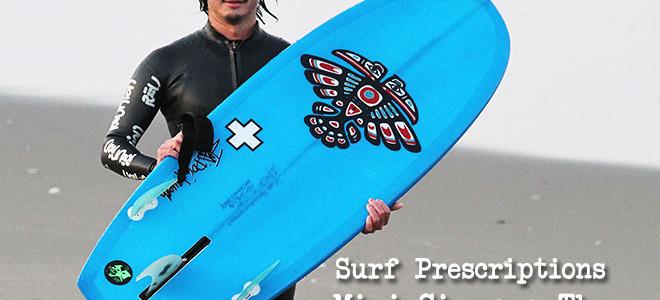 Surf Prescriptions『Mini Simmons Thang(ミニシモンズ・サング)』5'2″x20-5/8″x2-3/8″_空とぶ魔法のジュウタン!(by スタッフ)