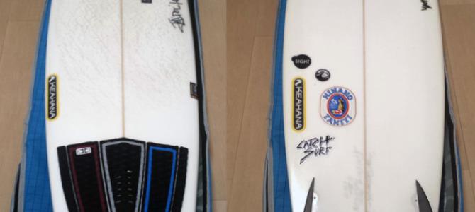 """【Surf Prescriptions (DOC)】FOURDOORS 5'10"""" x 22-1/4″ x 2-3/8″_テイクオフ激速です。波の斜面にあわせてノーズを下げると、ススーってボードが走り出してくれます。"""